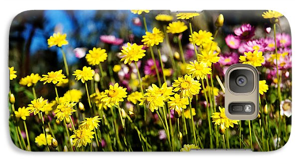 Galaxy Case featuring the photograph Yellow Flowers by Yew Kwang