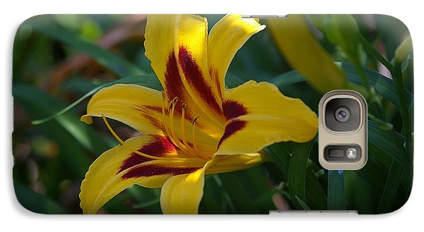Galaxy Case featuring the photograph Yellow Lily by Tannis  Baldwin