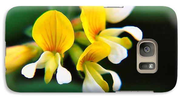 Galaxy Case featuring the photograph Yellow Macro by Wendy McKennon
