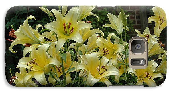 Galaxy Case featuring the photograph Yellow Oriental Stargazer Lilies by Tom Wurl