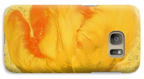 Galaxy Case featuring the painting Yellow Parrot Tulip by Richard James Digance