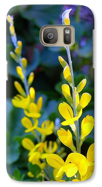 Galaxy Case featuring the photograph Yellow Plumes by Judi Bagwell