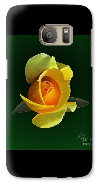 Galaxy Case featuring the painting Yellow Rose by Rand Herron