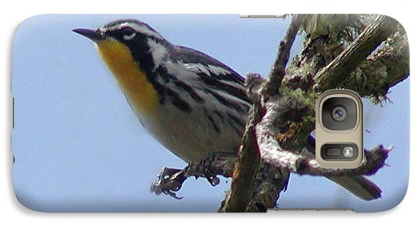 Galaxy Case featuring the photograph Yellow-throated Warbler by Roena King