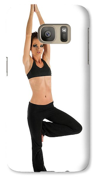 Galaxy Case featuring the photograph Yoga Pose Tree by Jim Boardman