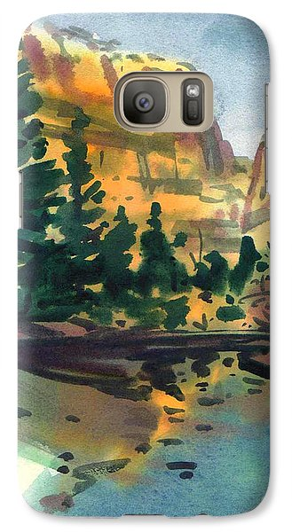Galaxy Case featuring the painting Yosemite Valley In January by Donald Maier