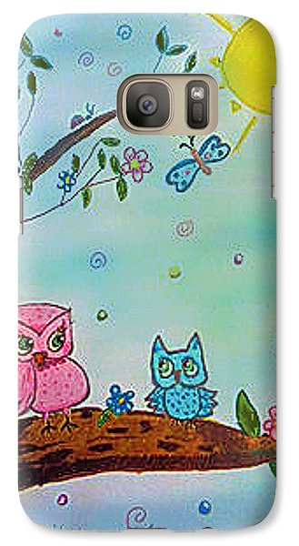 Galaxy Case featuring the painting You Can Do It  by Elizabeth Coats