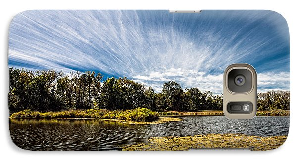 Galaxy Case featuring the photograph You Cannot Be Cirrus by Tom Gort