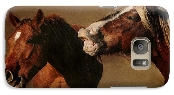 Galaxy Case featuring the photograph You're Too Funny by Davandra Cribbie