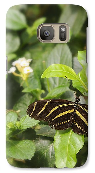Galaxy Case featuring the photograph Zebra Butterfly by Marianne Campolongo