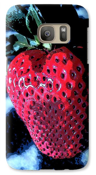 Galaxy Case featuring the photograph Zebra Strawberry by Kym Backland