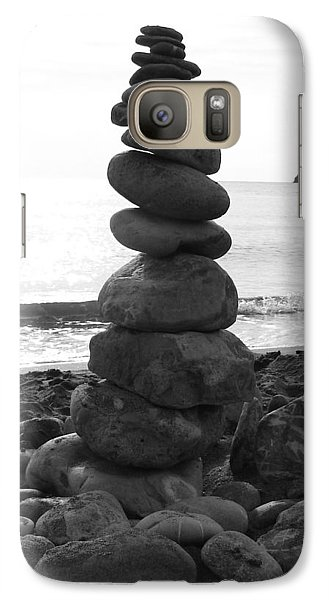 Galaxy Case featuring the photograph Zen Tower by Ramona Johnston