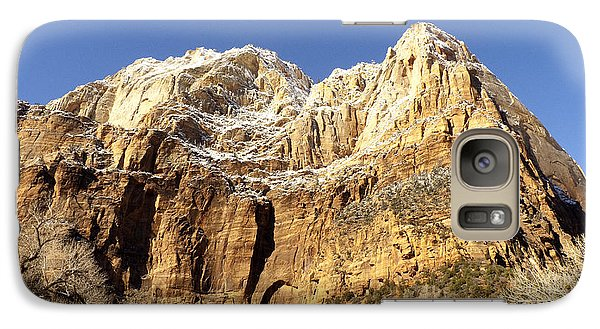 Galaxy Case featuring the photograph Zion Cliffs by Bob and Nancy Kendrick