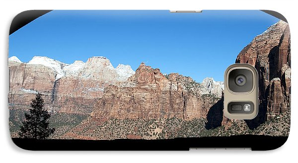 Galaxy Case featuring the photograph Zion Tunnel View by Bob and Nancy Kendrick