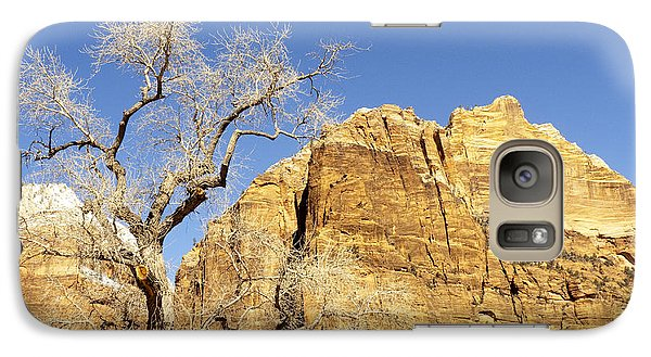Galaxy Case featuring the photograph Zion Winter Sky by Bob and Nancy Kendrick