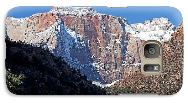 Galaxy Case featuring the photograph Zion's West Temple by Bob and Nancy Kendrick