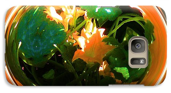 Galaxy Case featuring the photograph Zucchini Flowers Under Glass by George Pedro