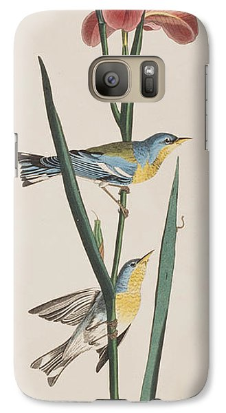 Blue Yellow-backed Warbler Galaxy S7 Case by John James Audubon