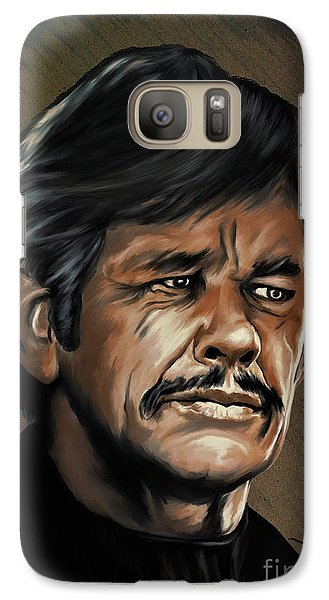 Galaxy Case featuring the painting  Charles by Andrzej Szczerski