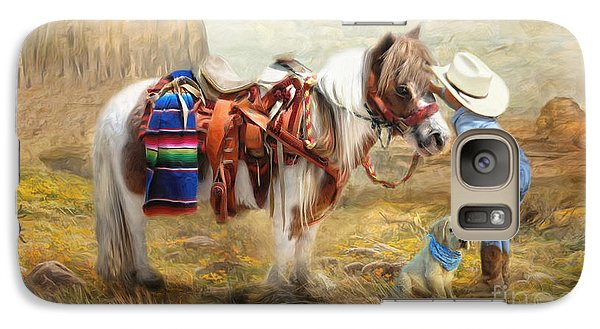 Galaxy Case featuring the digital art  Cowboy Up by Trudi Simmonds