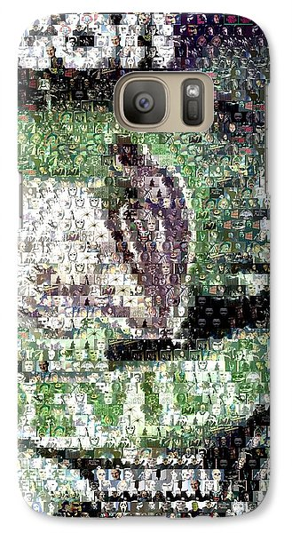 Galaxy Case featuring the mixed media  Devil Bat Movie Poster Horror Mosaic by Paul Van Scott