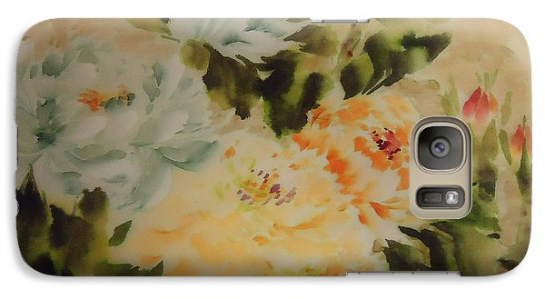 Galaxy Case featuring the painting  Flower 0727-3 by Dongling Sun