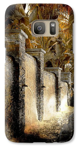 Galaxy Case featuring the photograph   Flowing Waterfall  by Athala Carole Bruckner