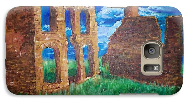 Galaxy Case featuring the painting  Ghost Town  by Eric  Schiabor