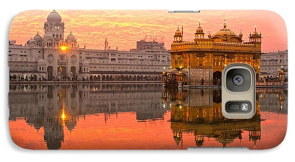 Galaxy Case featuring the photograph  Golden Temple by Luciano Mortula