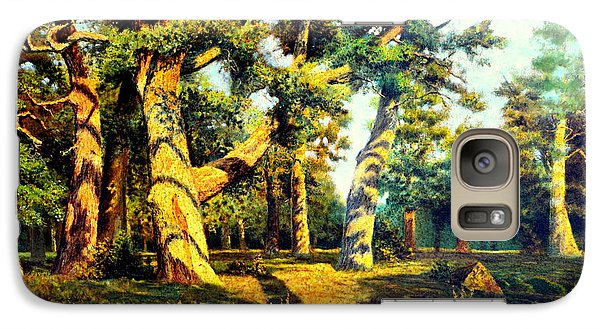 Galaxy Case featuring the painting   Green Summer-the Oak Forest by Henryk Gorecki