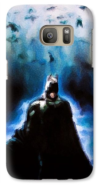 Galaxy Case featuring the painting  Into The Cave by Darryl Matthews