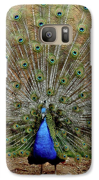 Galaxy Case featuring the photograph  Iridescent Blue-green Plumage by LeeAnn McLaneGoetz McLaneGoetzStudioLLCcom
