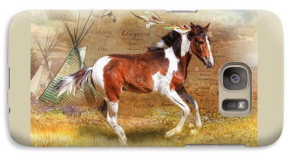 Galaxy Case featuring the digital art  Little Apache by Trudi Simmonds