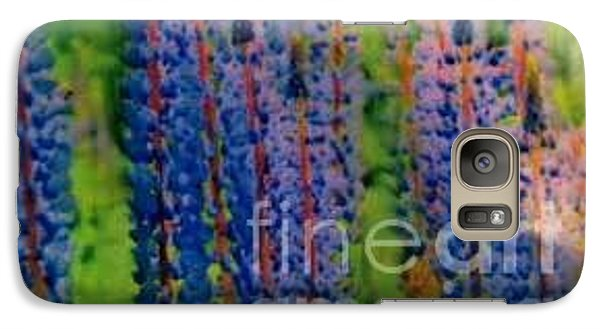 Galaxy Case featuring the painting  Lois Love Of Lupine by FeatherStone Studio Julie A Miller