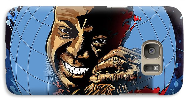 Galaxy Case featuring the painting  Louis. by Andrzej Szczerski