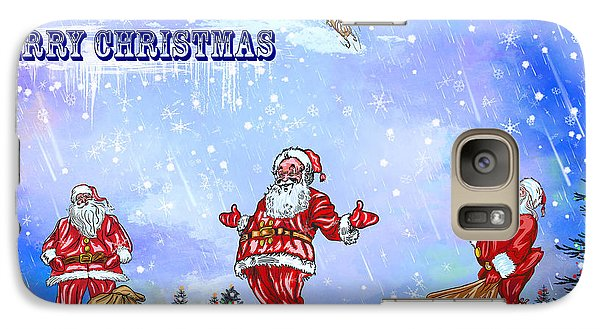 Galaxy Case featuring the painting  Merry Christmas To My Friends In The Faa by Andrzej Szczerski