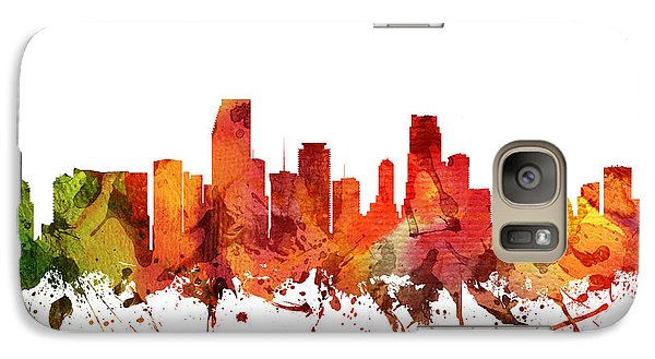 Miami Cityscape 04 Galaxy Case by Aged Pixel