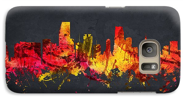 Miami Cityscape 07 Galaxy Case by Aged Pixel