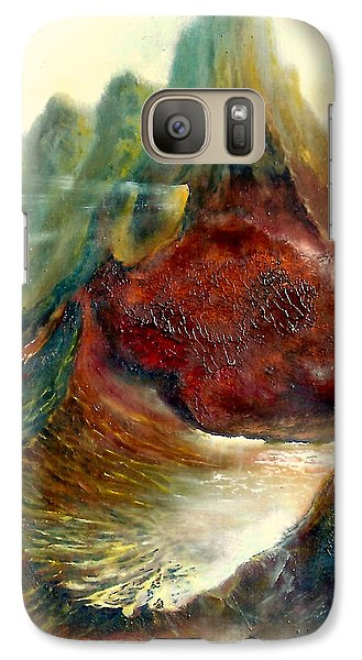 Galaxy Case featuring the painting  Mountains Fire by Henryk Gorecki
