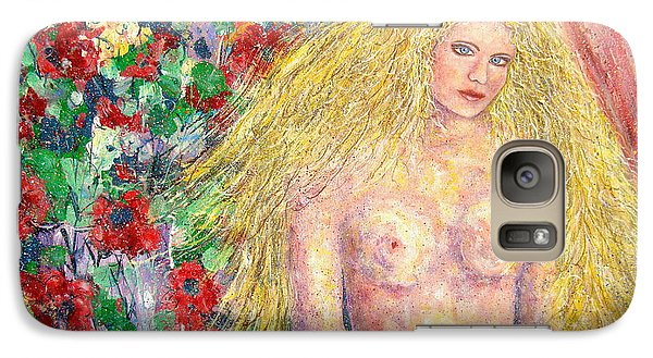 Galaxy Case featuring the painting  Nude Fantasy by Natalie Holland