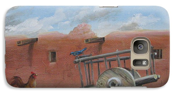 Galaxy Case featuring the painting  Old Spanish Cart  by Oz Freedgood