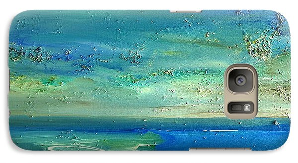 Galaxy Case featuring the painting  Pearls Of Tranquility Seascape 1 by Dolores  Deal