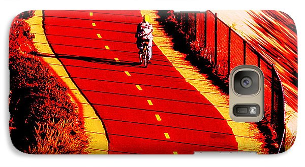 Galaxy Case featuring the photograph  Red Path  by John King