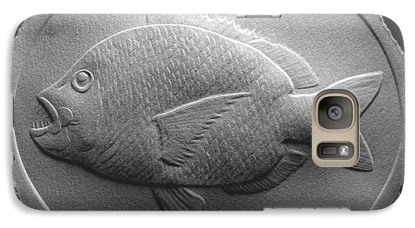 Galaxy Case featuring the relief  Relief Saltwater Fish Drawing by Suhas Tavkar