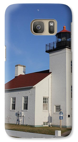 Galaxy Case featuring the photograph  Sand Point Lighthouse Escanaba by Charles Morrison