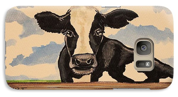 Galaxy Case featuring the painting  Say Hello To Patty The Cow by Elizabeth Robinette Tyndall