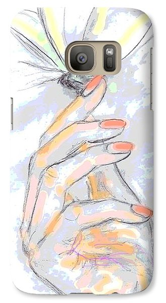 Galaxy Case featuring the drawing  Soft Touch by Desline Vitto