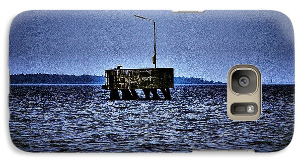 Galaxy Case featuring the photograph  The Dock Of Loneliness by Jouko Lehto