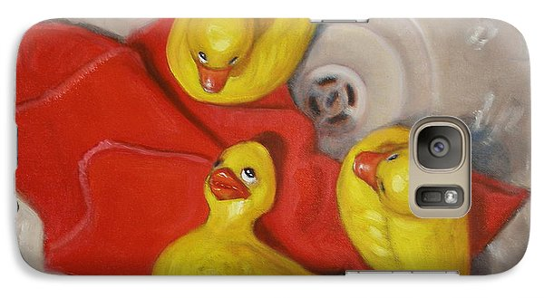 Galaxy Case featuring the painting  Three Rubber Ducks  #1 by Donelli  DiMaria