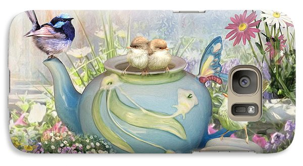 Galaxy Case featuring the digital art  Tiny Tea Party by Trudi Simmonds